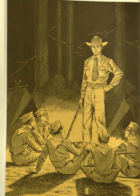Why is George Bush about to cane a bunch of Boy Scouts?